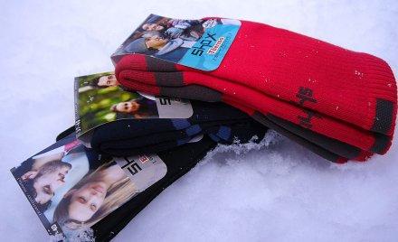 shox termo ponozky v snehu