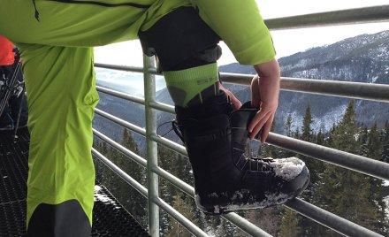 Skiing advanced obuvanie na chopku