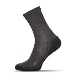 Sensitive ponozky tmavo sede