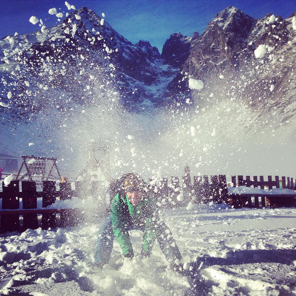 Skalnate Pleso cerstvy sneh