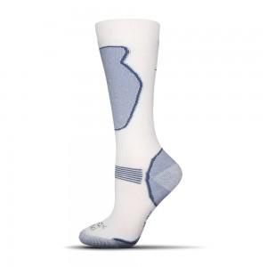 Destke lyziaske ponozky Ski biele