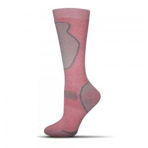 Destke lyziaske ponozky Ski ruzove