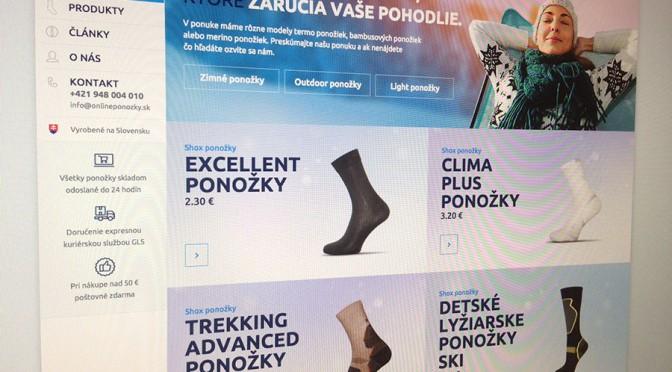 Termo ponozky spustenie webu
