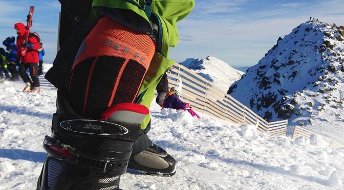 Skiing ponozky na chopku 2015